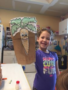 Olivia and Carrot puppet